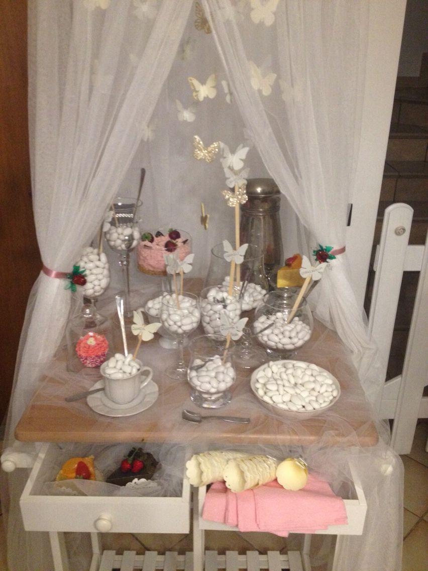 Confettata tripudio di farfalle allestimento rinfresco - Confettata matrimonio a casa ...