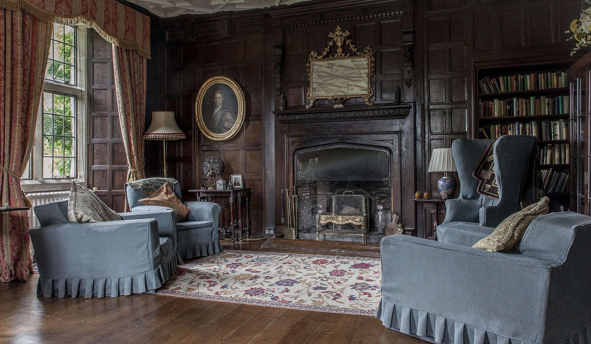 Stately Home Interior Wales Antique Lounge Historic