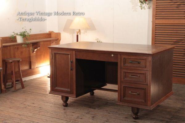 518J レトロな木製の書斎机 カフェ北欧デスクデンマーク ¥20000円 〆03月09日