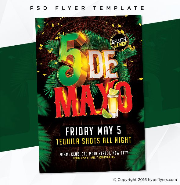 Cinco De Mayo Party Flyer Event Template Party Flyer And Psd