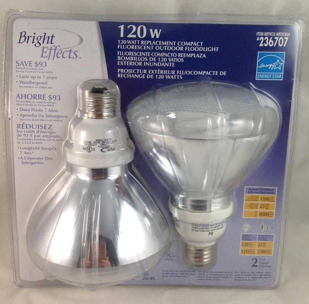 Floodlight Outdoor 2 Pack 23 Watt 120w Equivalent Par23 Brighteffects Bulbs For Sale Selling On Ebay Ebay