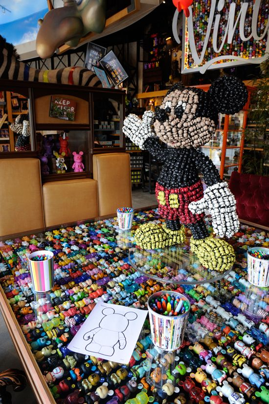 Art Of Disney In Downtown Vinylmation Coloring Page