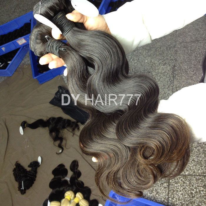 Color 1B# Cambodian body wave human hair extensions. http://www.dyhair777.com/Cambodian-Virgin-Hair.html