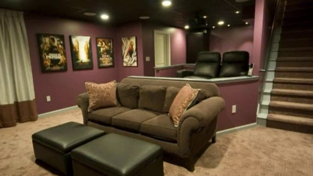 Basement Home Theater Design Ideas Modern Basement Ideas