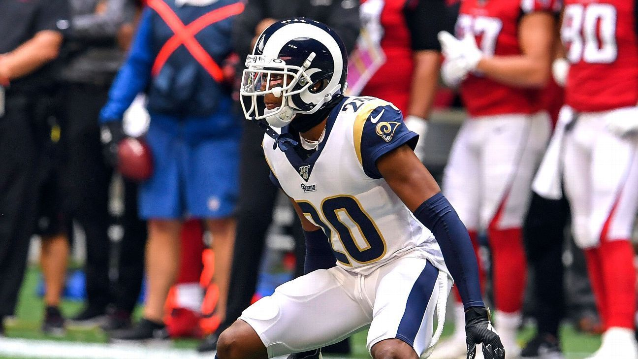 Jalen Ramsey Trade Pays Dividends As Rams Defense Shuts Down Falcons Los Angeles Rams Blog Jalen Ramsey Los Angeles Rams Football And Basketball