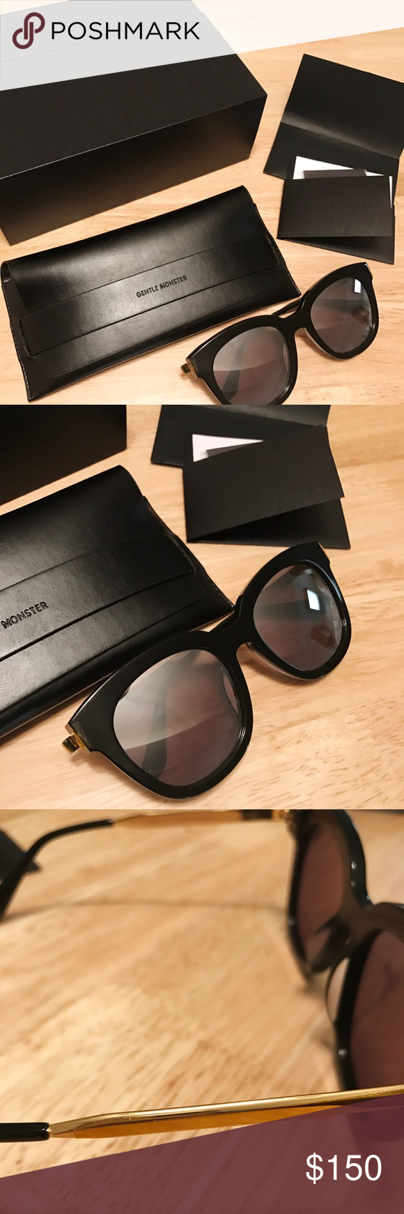 5e29fc958b7 Gentle Monster Absente 01 Gold Reflective Sunnies NEW IN BOX. I was gifted  this for