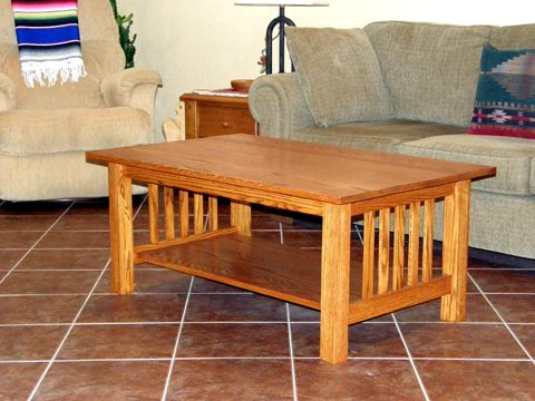 Craftsman Style Coffee Table   Done!