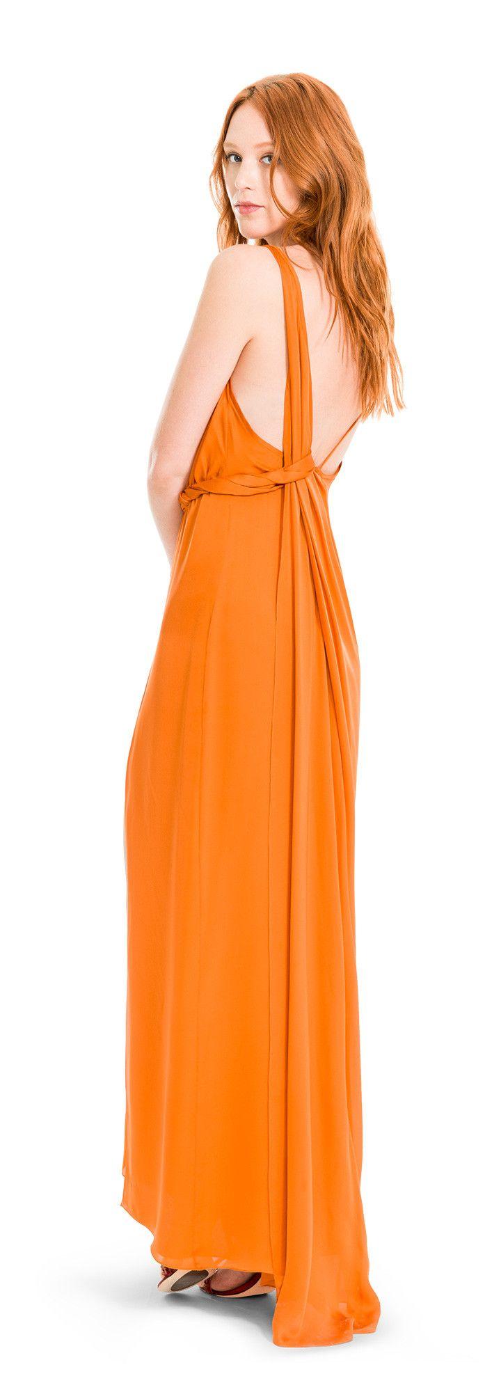 Silk charmeuse long dress design details fashion pinterest