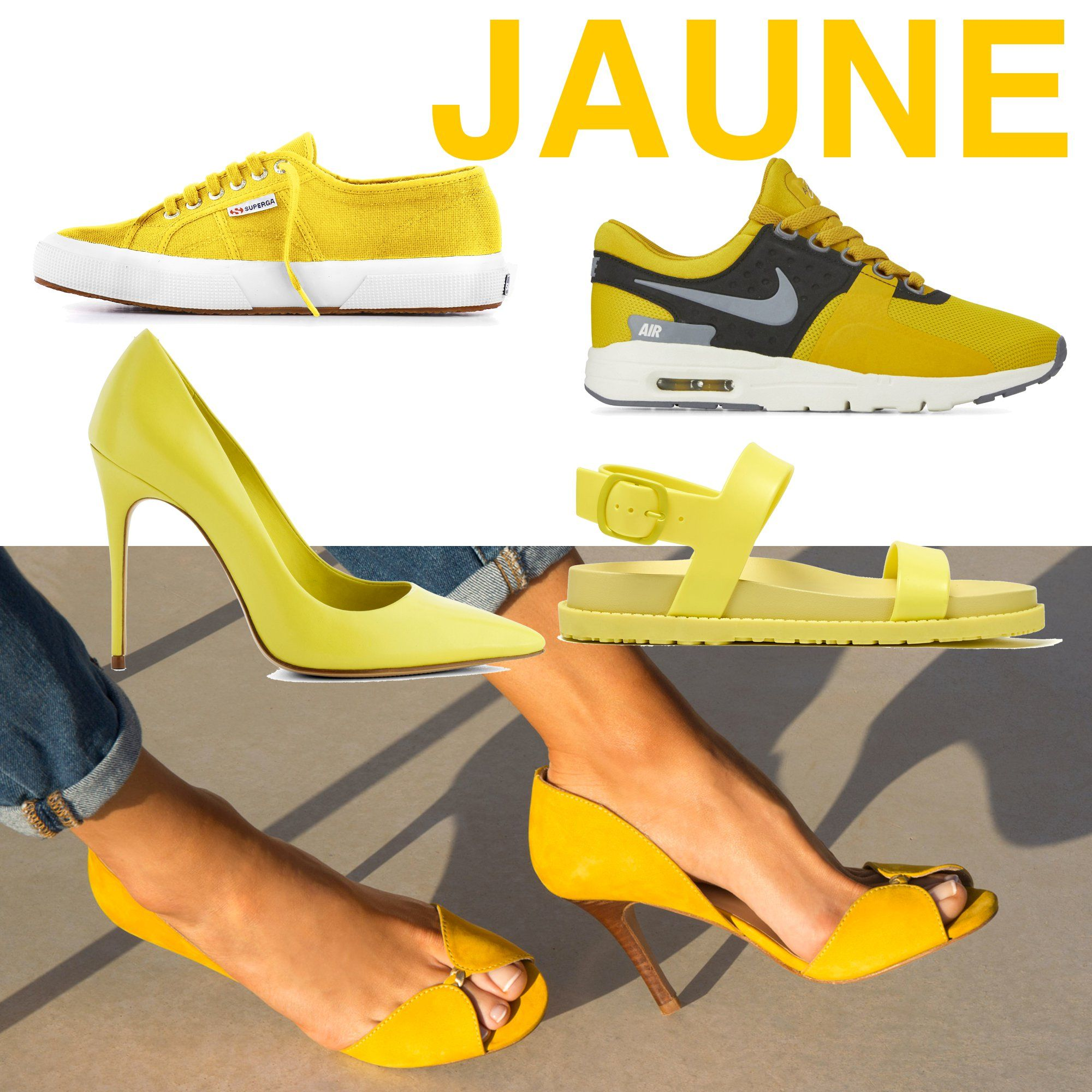 chaussures printemps t 2017 d cryptage des tendances chaussure printemps t 2017 et jaune. Black Bedroom Furniture Sets. Home Design Ideas