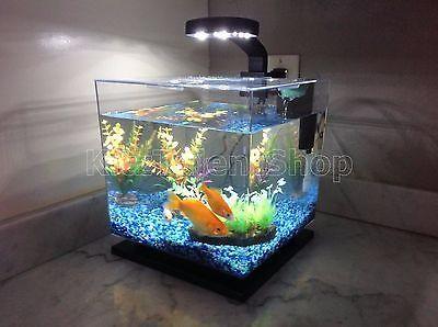 3 Gallon Fish Tank Aquarium Cube Led Light Freshwater Office Home Decoration New Aquarium Led 3 Gallon Fish Tank Cube Light