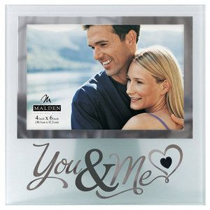 Malden 4'' x 6'' You and Me Silver Glass Picture Frame