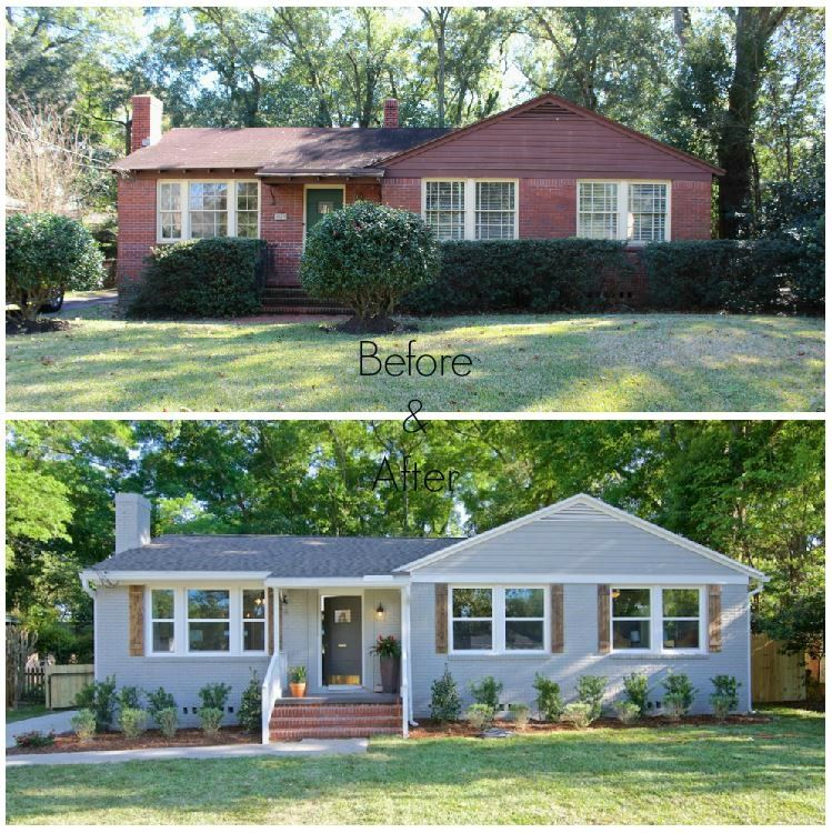 Exterior brick home renovation past projects for Before after exterior 1930
