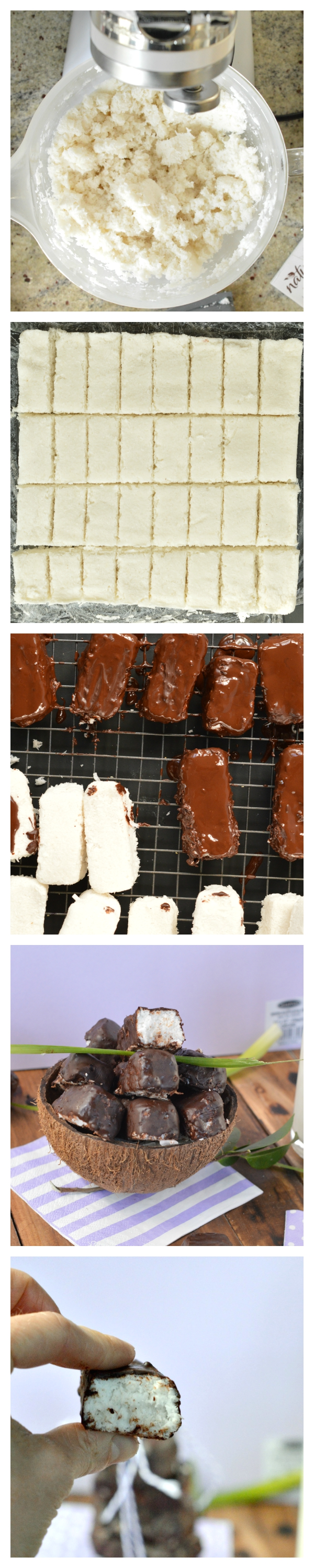Sugar free bounty bars #bounty #recipe #candybars #vegan #healthy #coconut