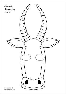 Gazelle Role Play Masks Sb9865 Sparklebox Animal Masks For