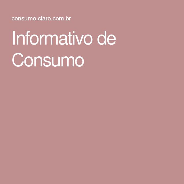 Informativo de Consumo