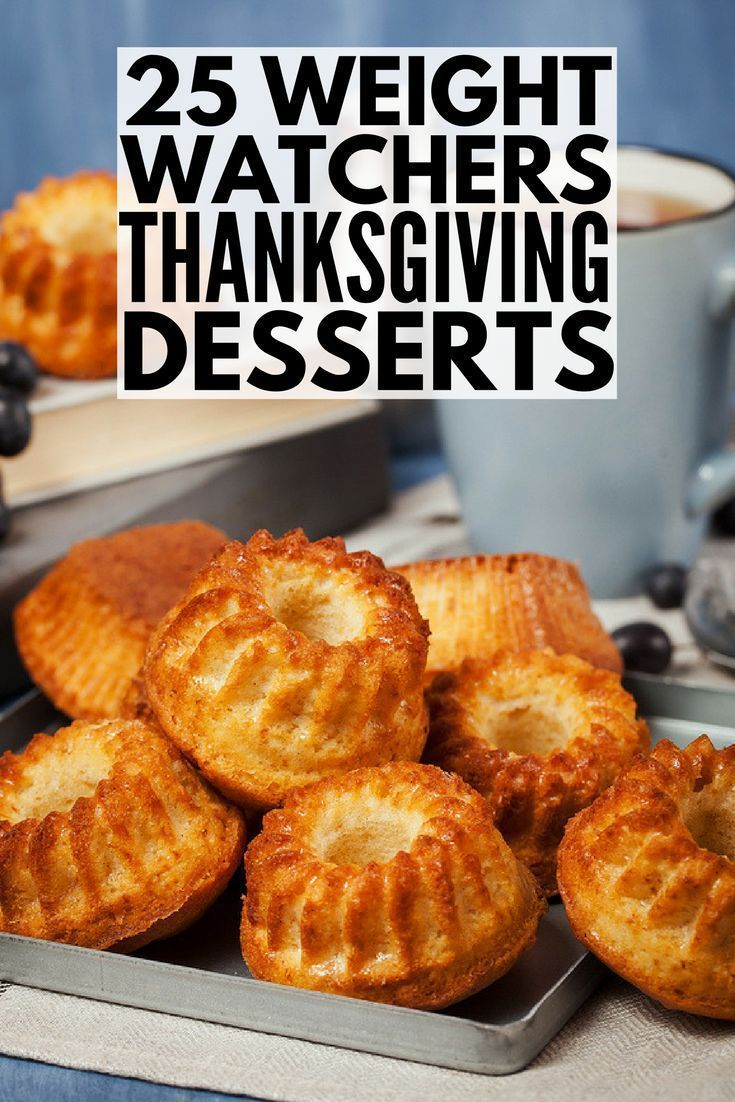 25 Weight Watchers Thanksgiving dessert recipes