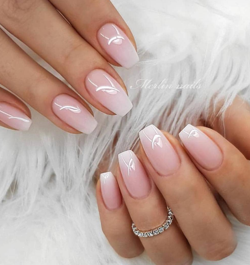 100 Trendy Stunning Manicure Ideas For Short Acrylic Nails Design Page 59 Of 101 Cute Gel Nails Natural Gel Nails Wedding Nails Design