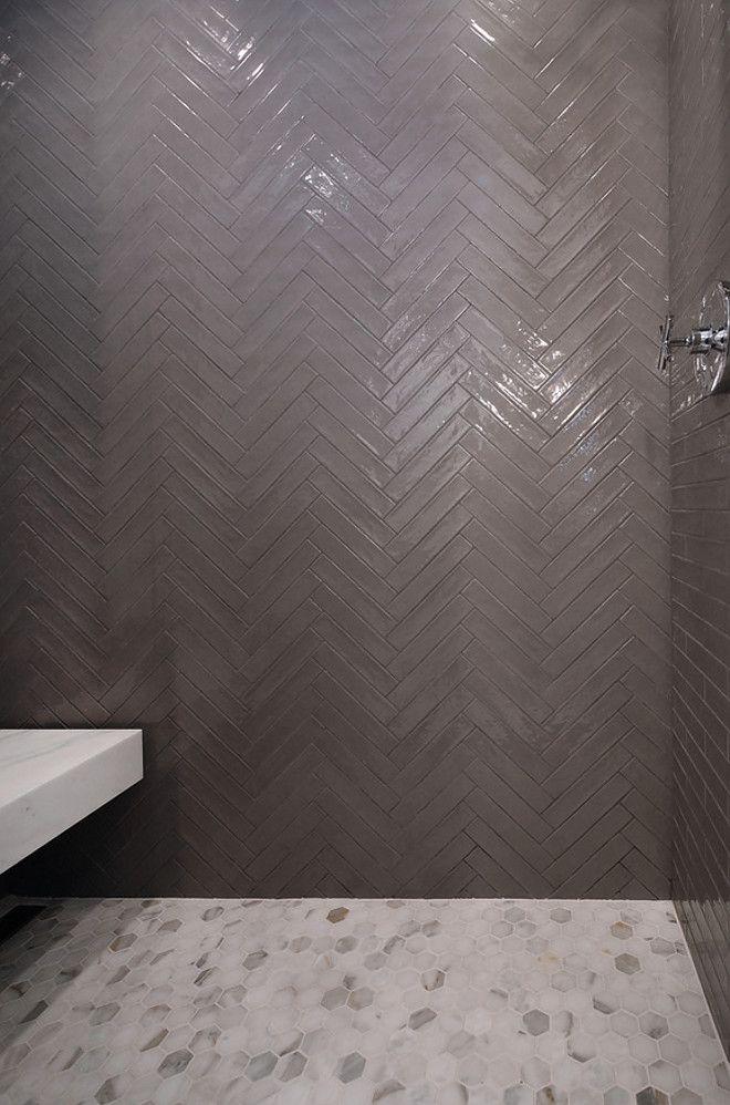 2x10 Tile 2x10 Shower Tile 2x10 Herringbone Shower Tile This Shower Brings Quite The Design Impact Wit Modern Farmhouse Style Shower Tile Modern Shower Tile