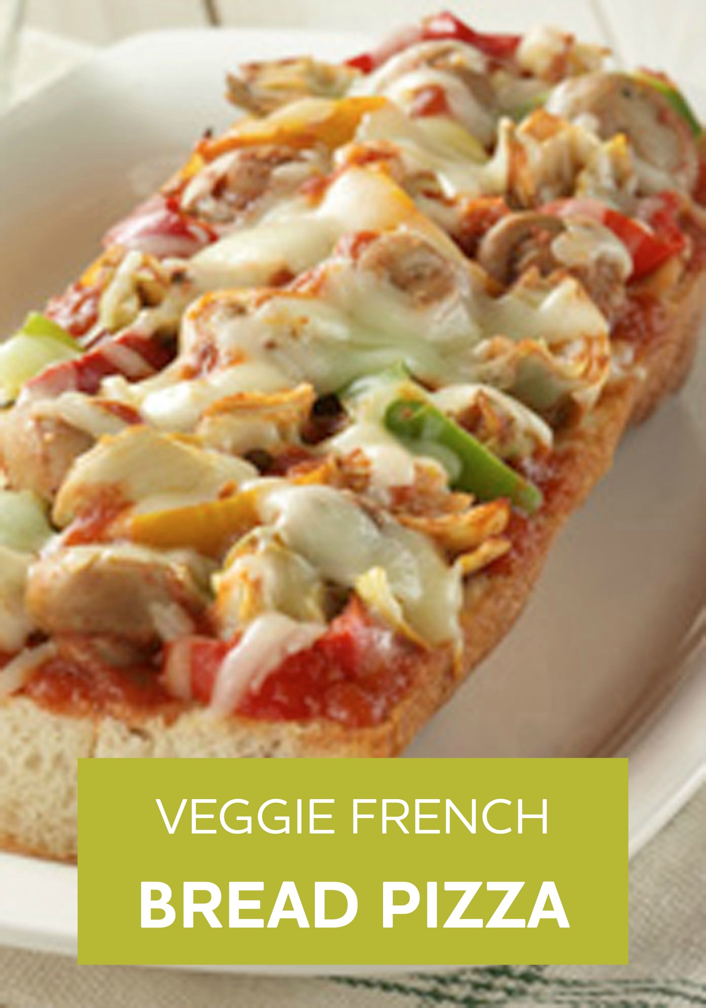 Vegetarische Pizza Veggie French Bread Pizza