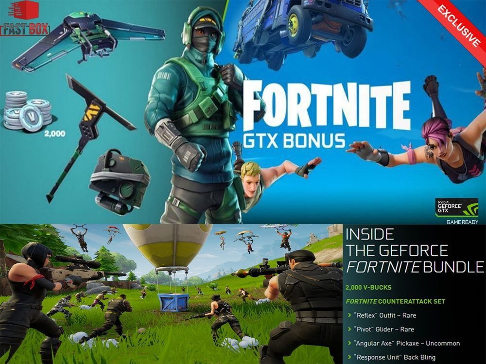 nvidia geforce gtx fortnite bundle code counterattack set 2000 vbucks fortnite fortnitebattleroyale live - fortnite nvidia bundle code buy