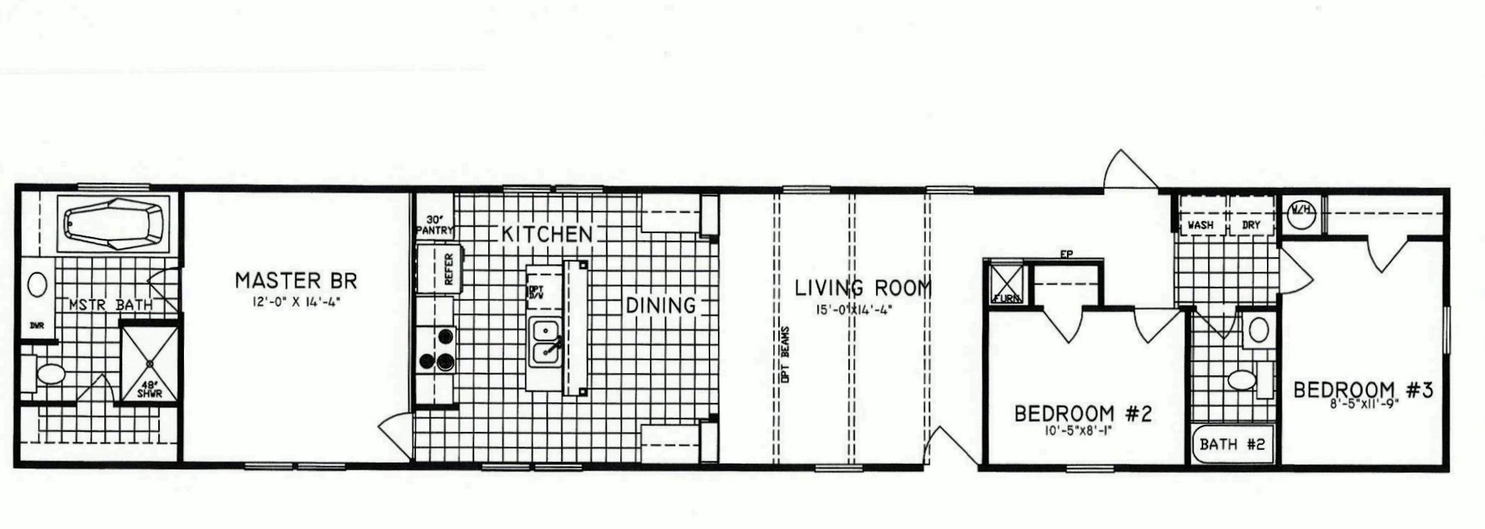 3 Bedroom Floor Plan: C-9010