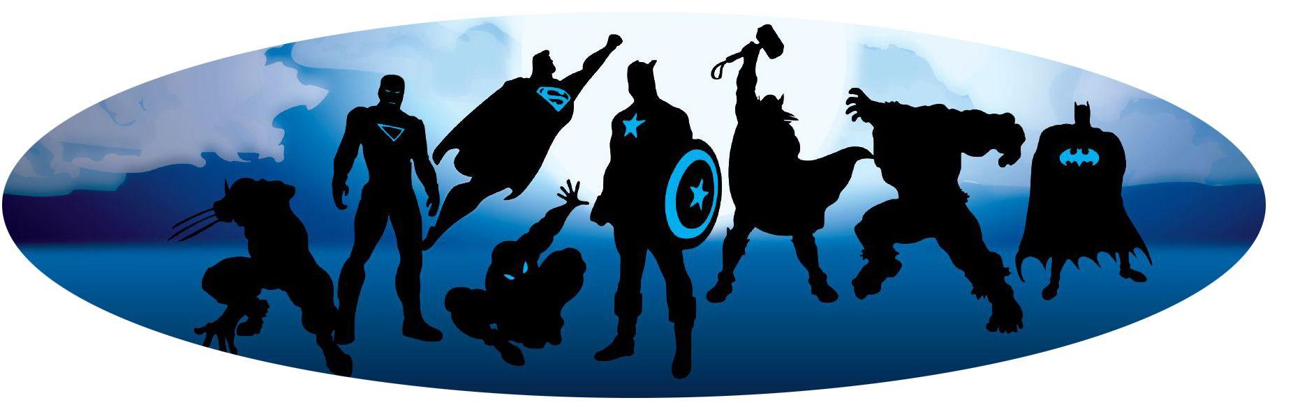 super hero silhouettes | MARVEL | Pinterest | Superheroes