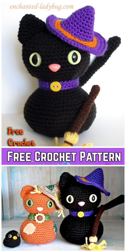 Crochet Halloween Cat Toy Softies Amigurumi Free Patterns | crochet ...