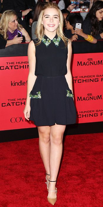 Look of the Day - November 19, 2013 - Kiernan Shipka in Miu Miu from #InStyle