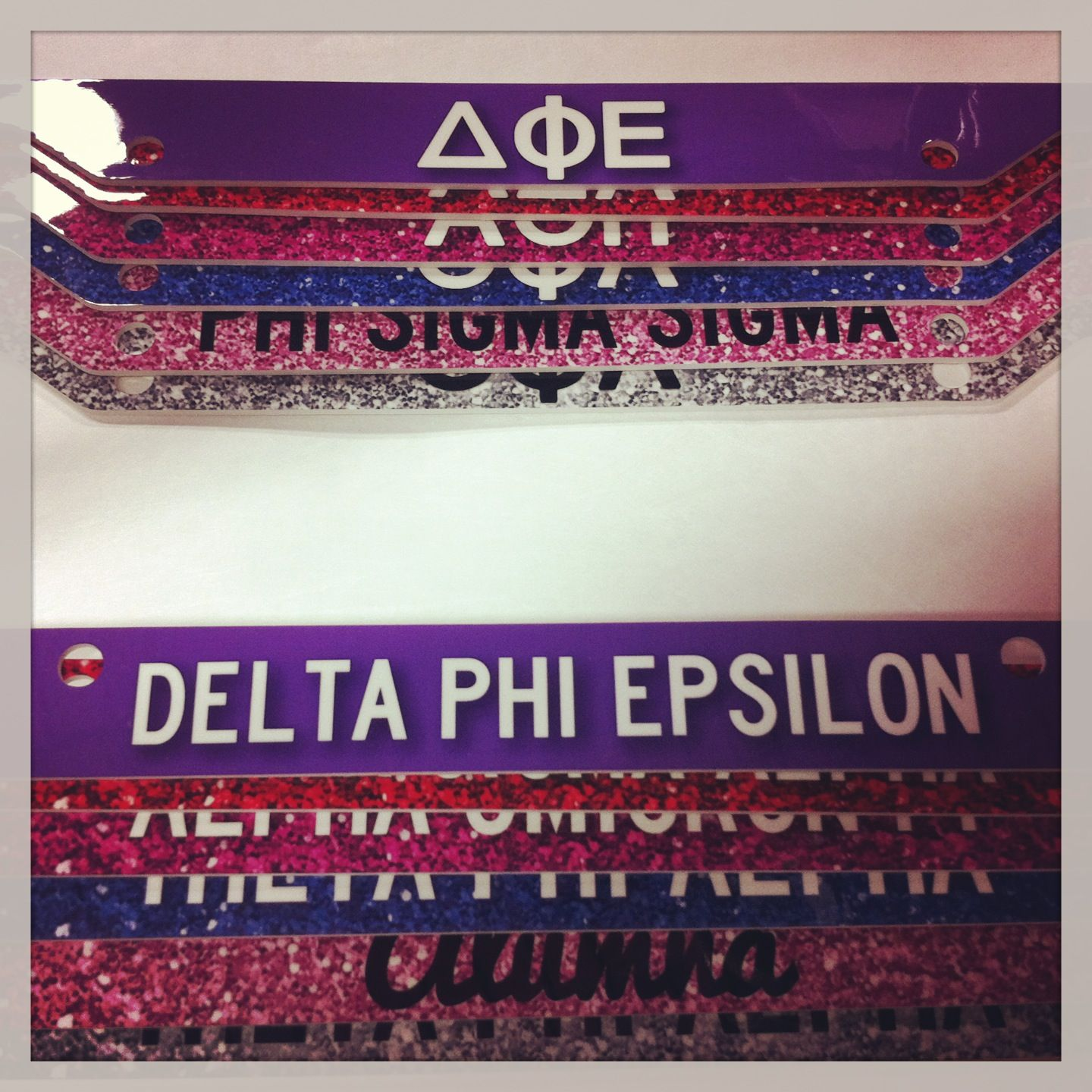 Sorority license plate frames! $28.00 plus group order discounts ...
