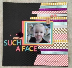 Day one layout featuring lots of Washi tape, shimmer trim, paper fundamentals, Ivy Lane assortment and Timberline assortment. The Brae-er | Just another WordPress site