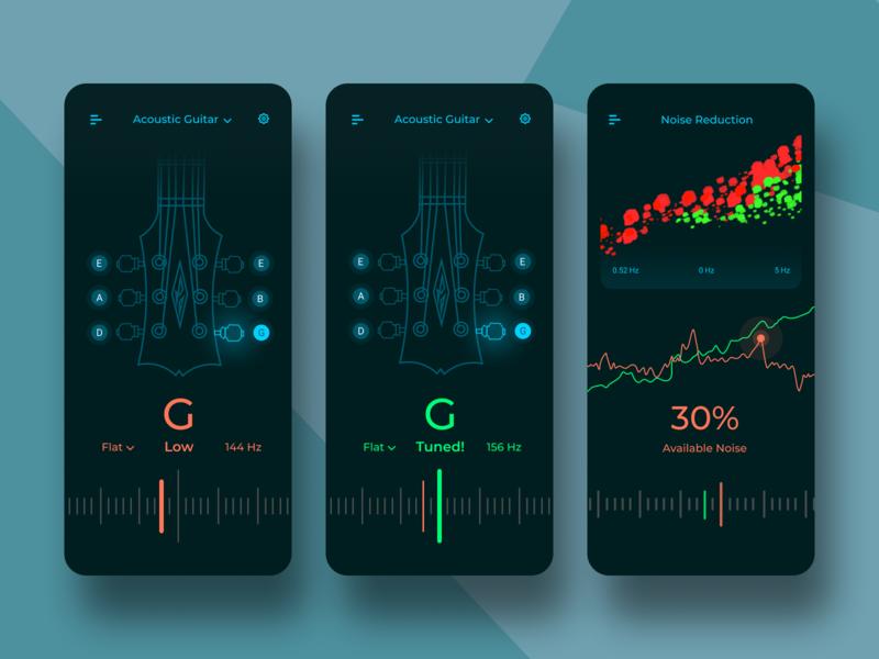 Guitar Tuner App Concept Sound Editing Application In 2020 Guitar Tuner App Guitar Tuners Tuner
