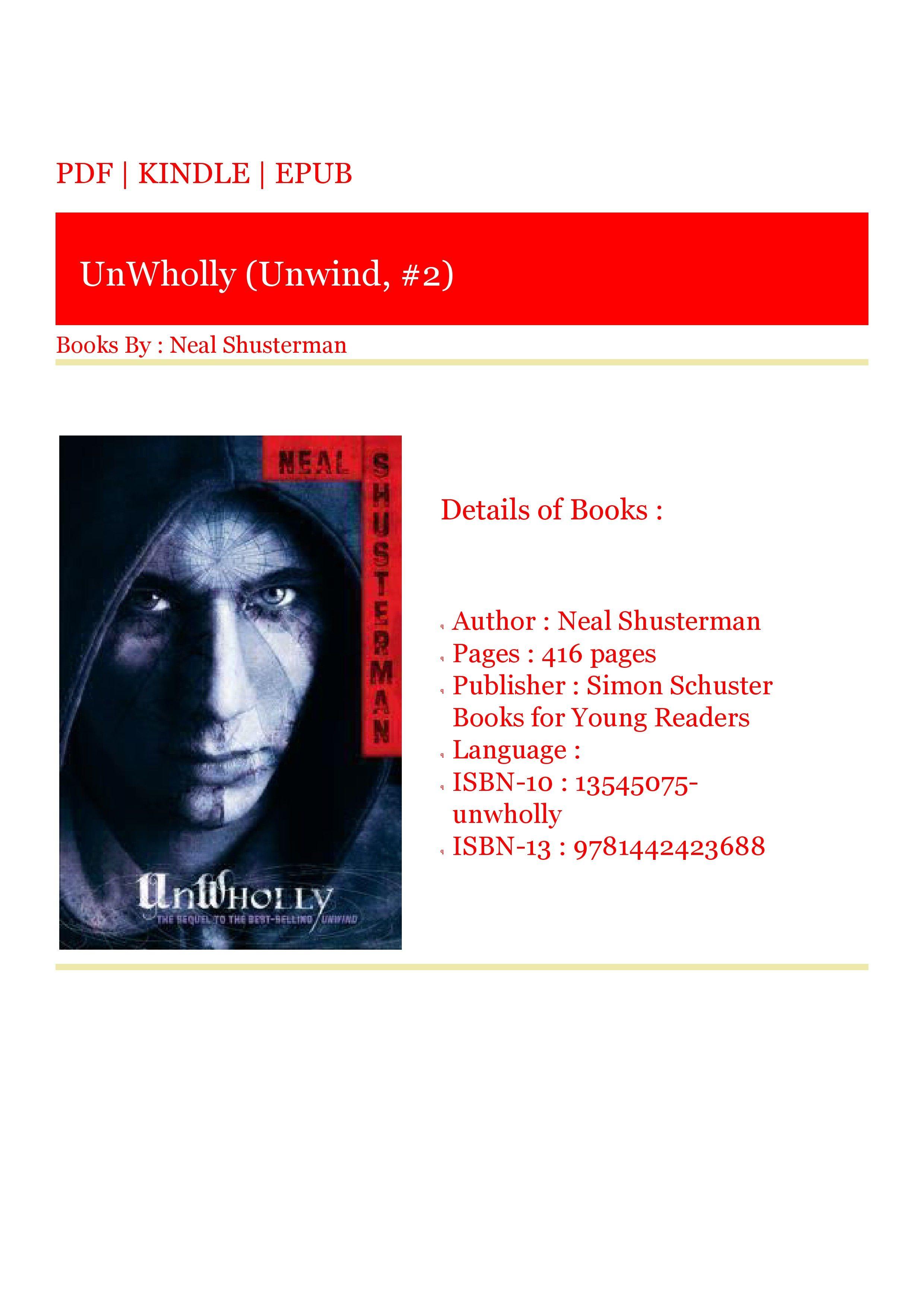 unwind book series movie