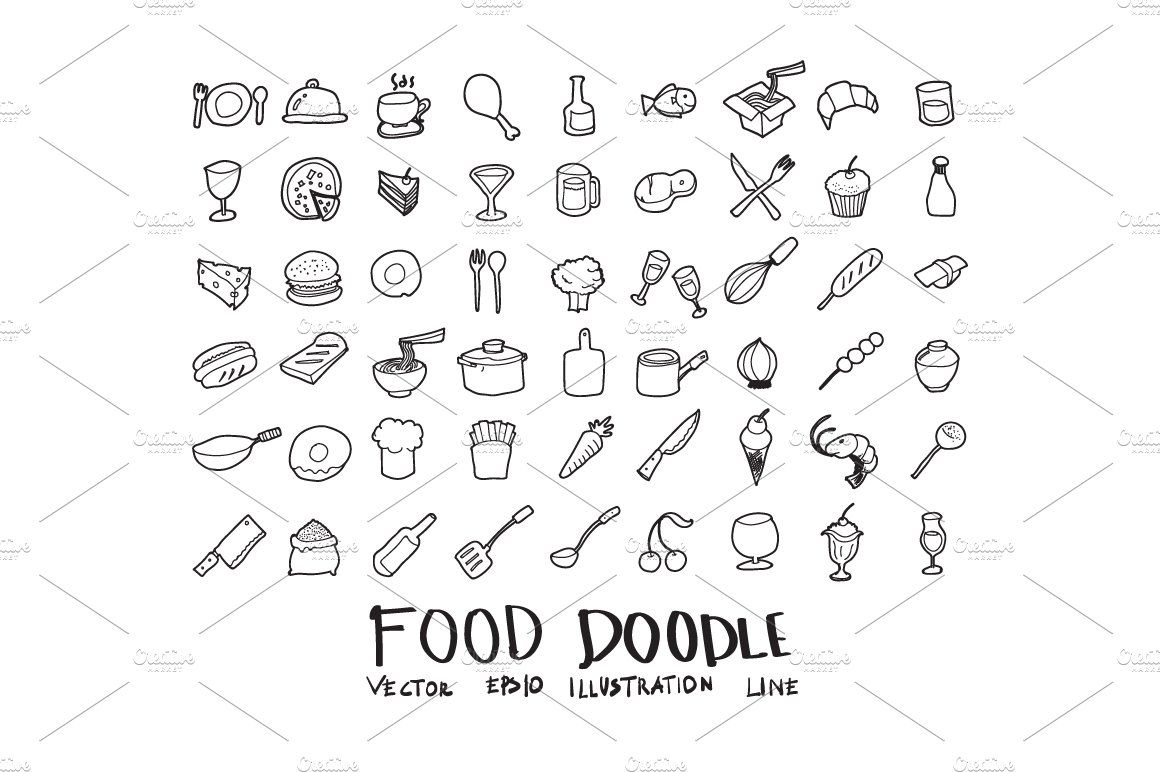 871 hand draw doodle icons set doodle icon how to draw
