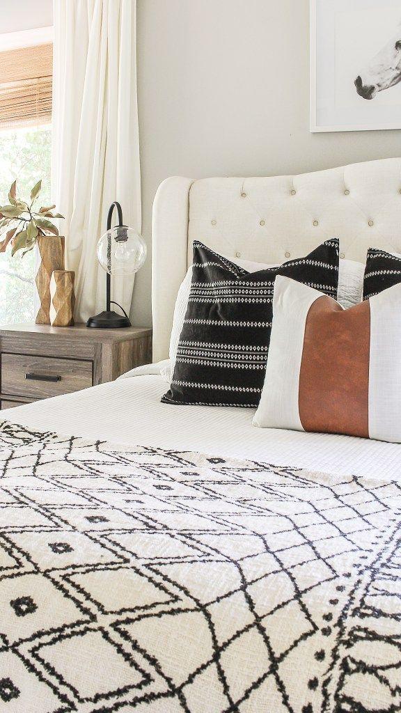 Modernes Bauernhaus-Schlafzimmer Erneuern Sie auf einem Etat  #auf #BauernhausSchlafzimmer # #modernfarmhousebedroom