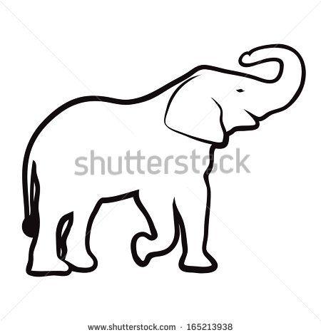 Elephant Outline Vector