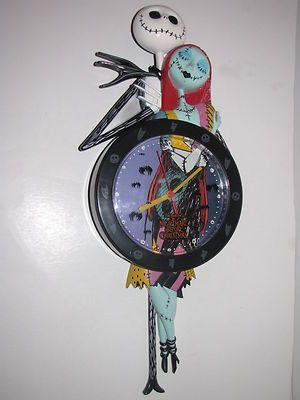 tim burton disney nightmare before christmas clock jack skellington sally fleece on ebay