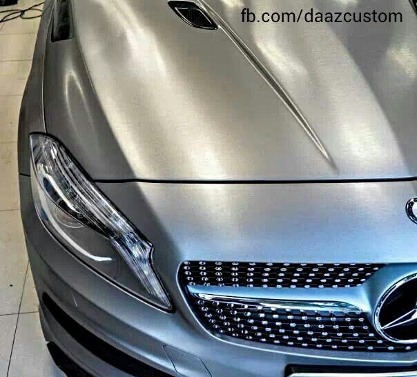 Mercedes Benz Classe A Brushed Steel Facebook Com Daazcustom Beautiful Cars Car Wrap Benz
