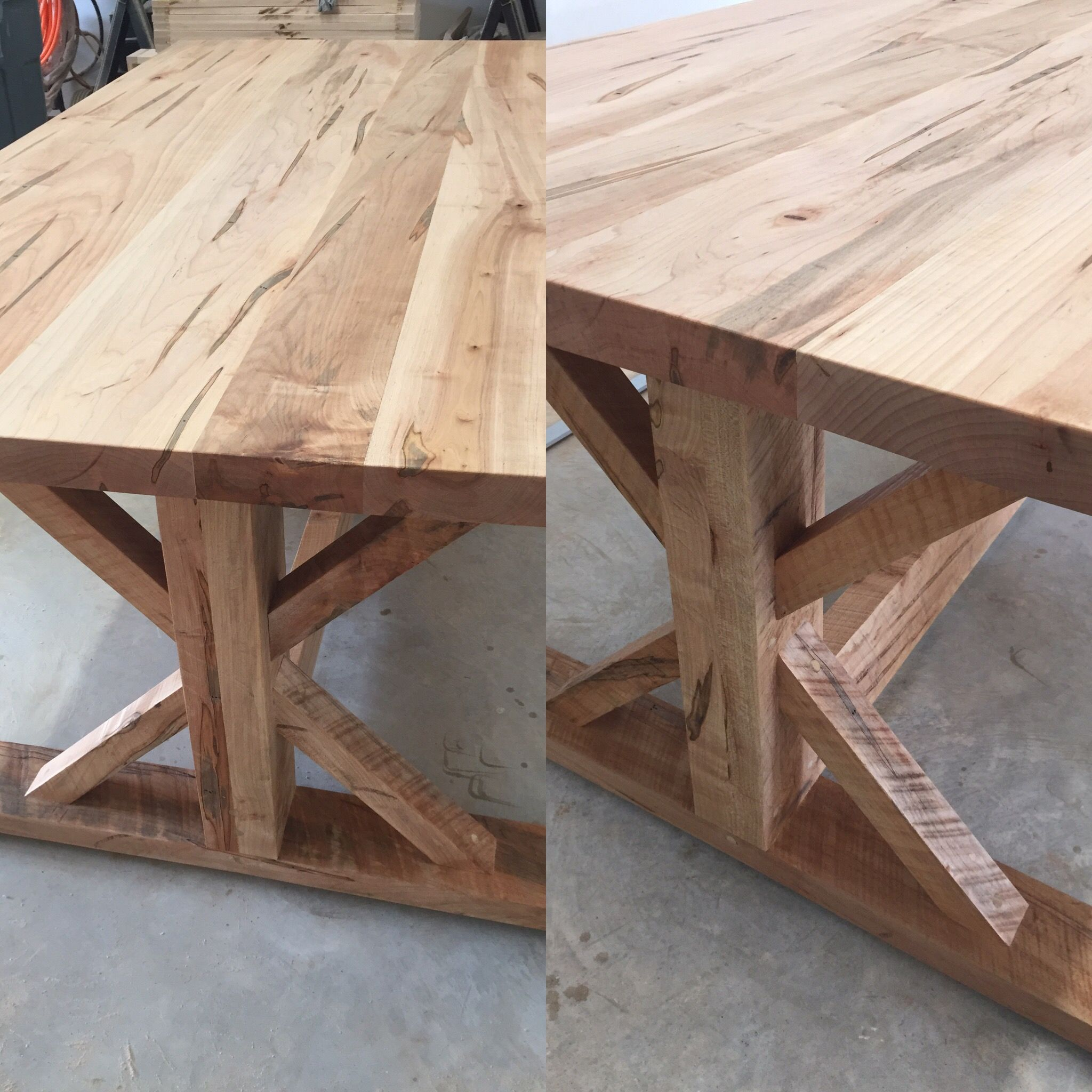 100 year old maple farm table for a client