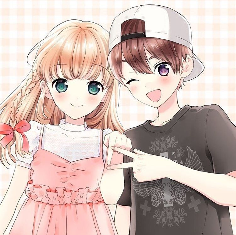 Картинки аниме девочка и мальчик друзья