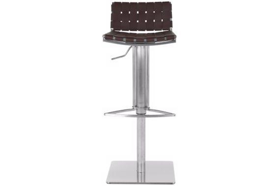 Thornley Brown Bonded Leather Adjustable Bar Stool