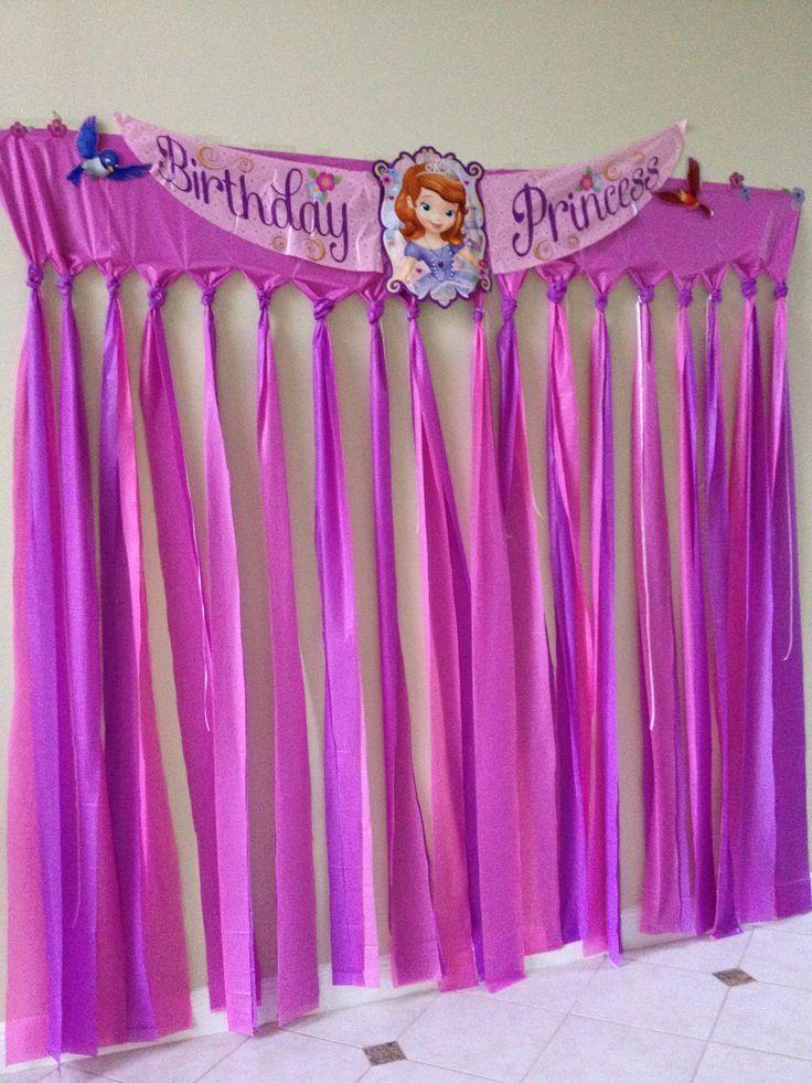 Cumplea os decorado de princesa sof a salones de fiestas - Cortinas originales para salon ...