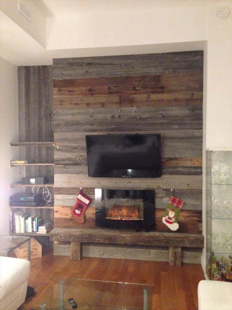 Rustic Stand Accent Backdrop - DIY Wood Pallet Wall Ideas and