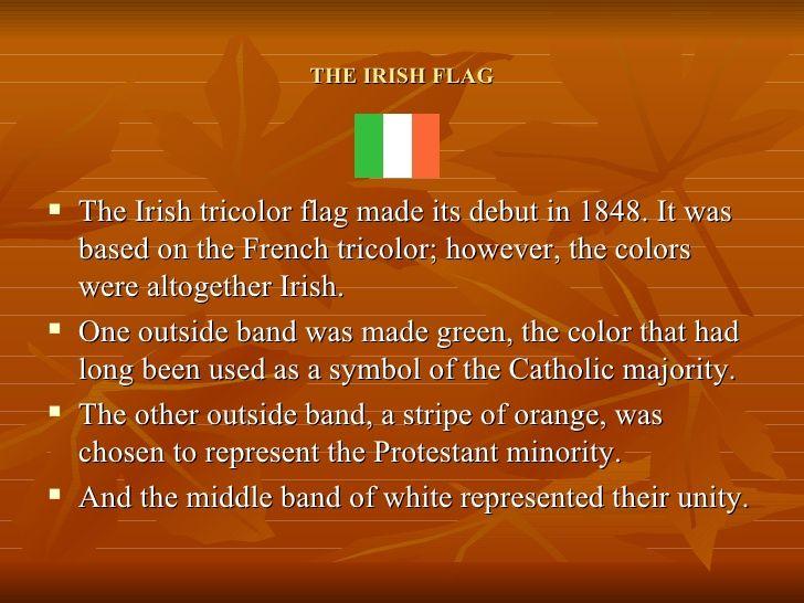 Irish Flag Symbolism Google Search Irish Flag Scottish English Irish