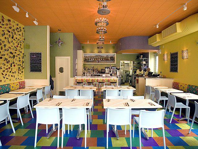 Love the decor of El Centro restaurant in NYC    Corona