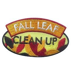 Fall Leaf Clean Up Fun Patch. After your Girl Scouts set up or participate in a leaf clean up project in your community this fall, thank your girls for their hard work with this fun patch. Available at MakingFriends.com