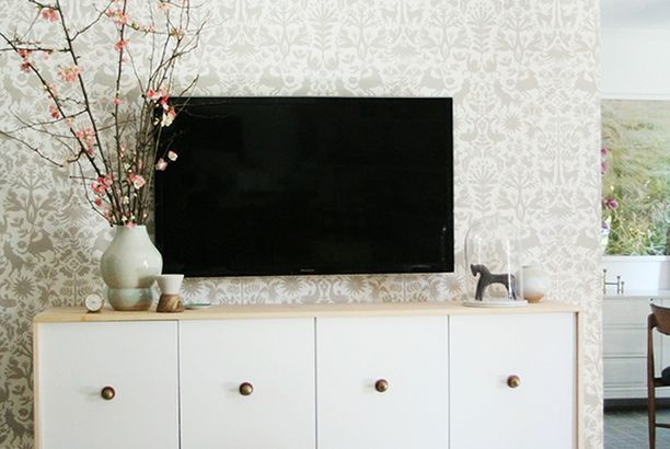 Floating Credenza Ikea Hack : Diy floating credenza ikea hack little green notebook