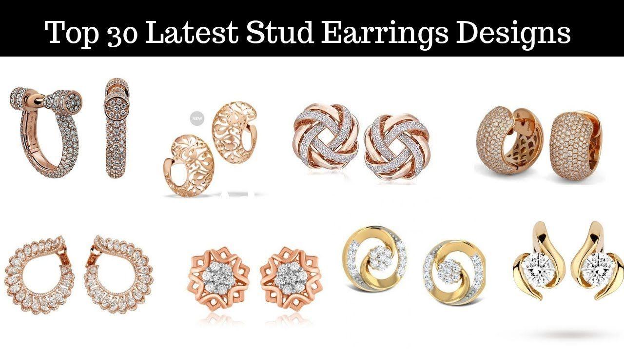 6dc9ceaa3 Top 30 Latest Stud Earrings Designs for Women. | Latest Jewellery ...