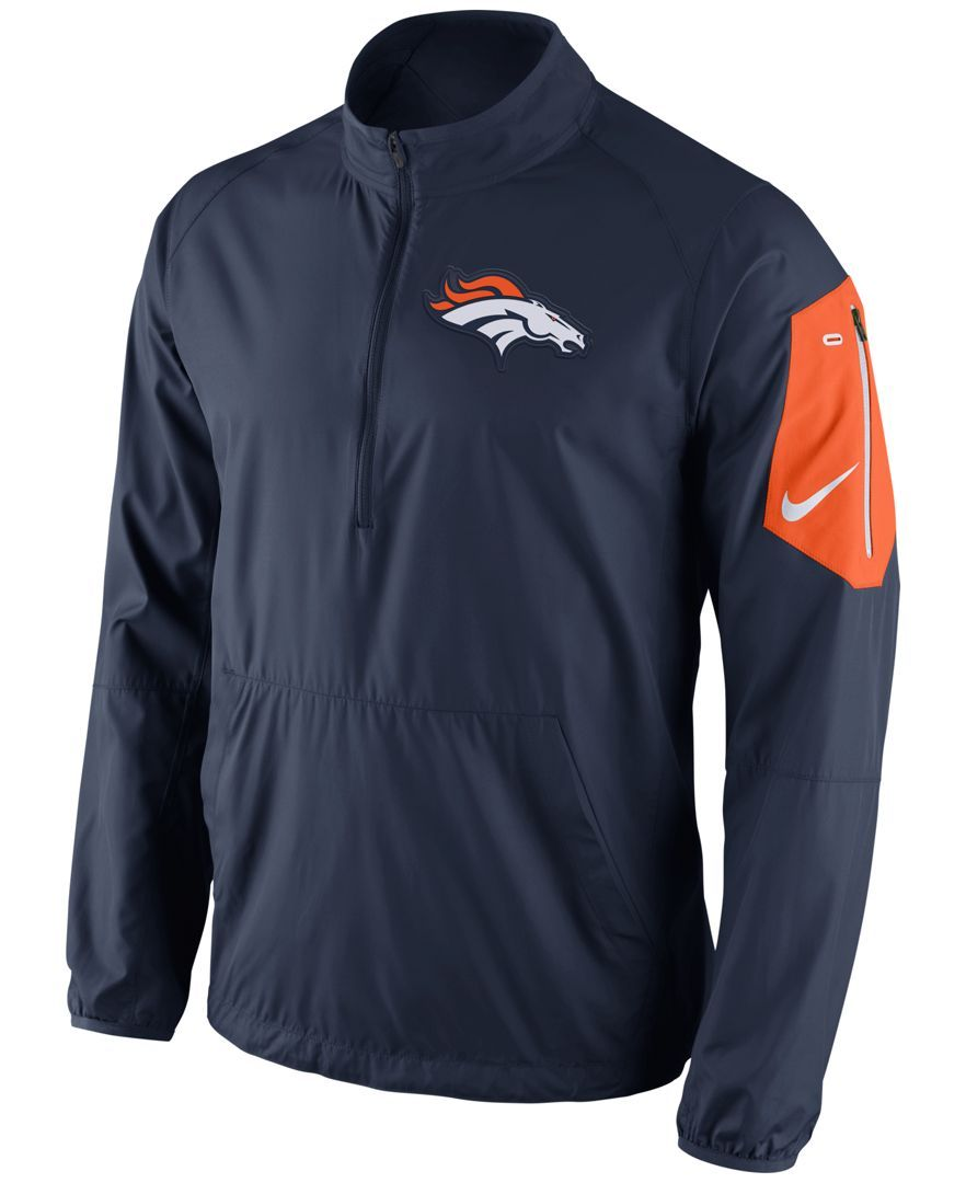 ed3017cc1 Nike Men s Denver Broncos Lockdown Half-Zip Jacket