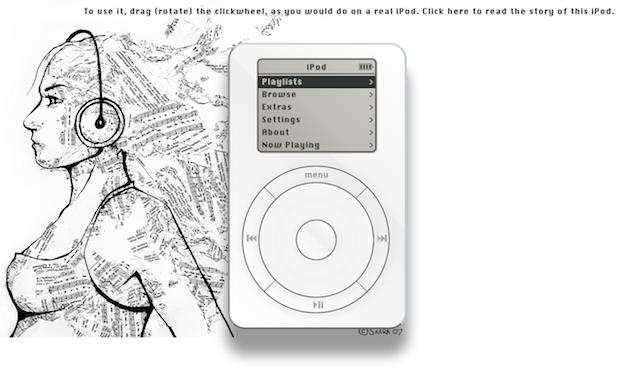 Dude recreates first-gen iPod in-browser, won't put 1,000