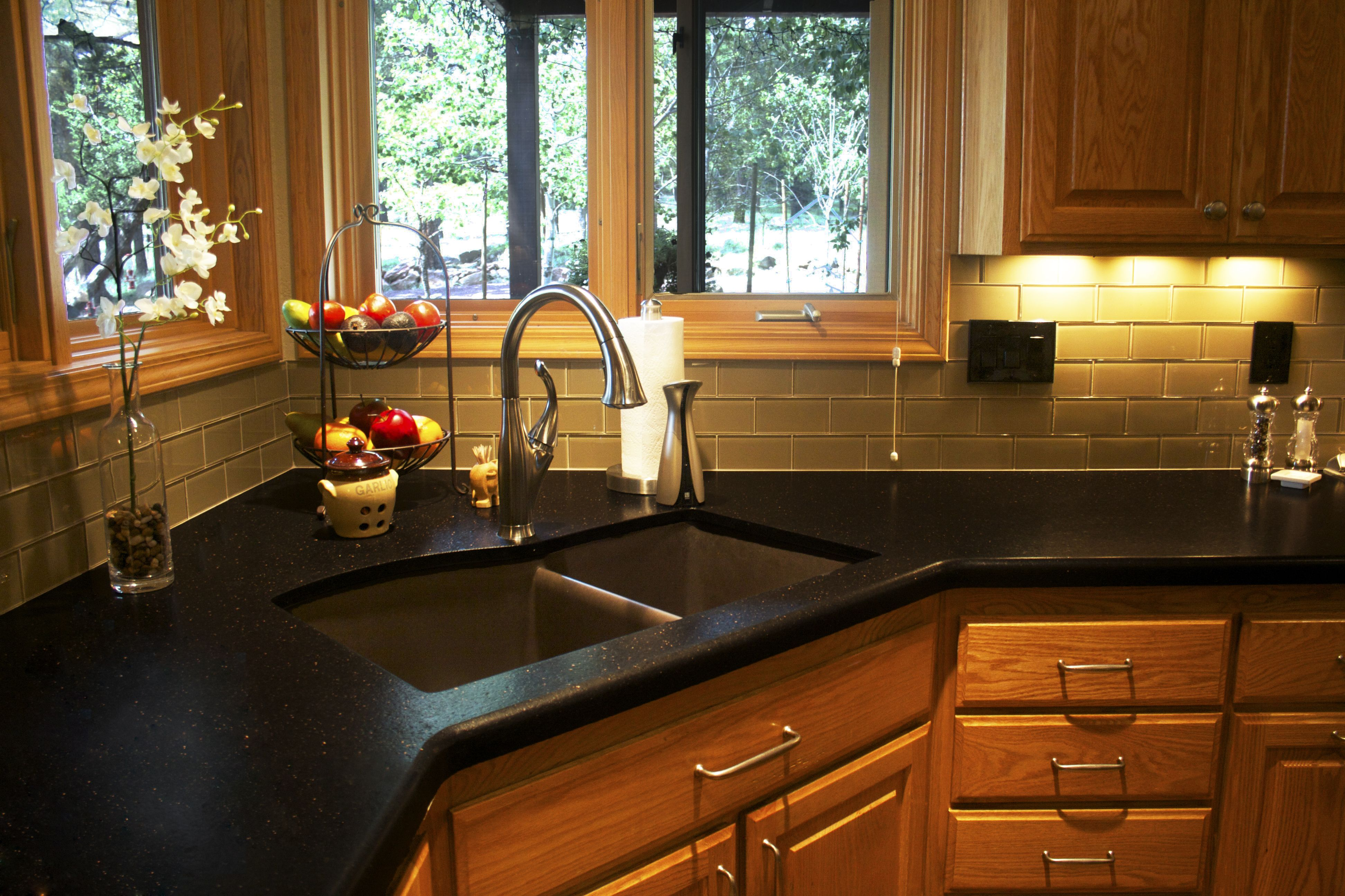 black galaxy granite with 1 1 2 top bullnose black countertops kitchen kitchen cabinets on kitchen decor black countertop id=18976